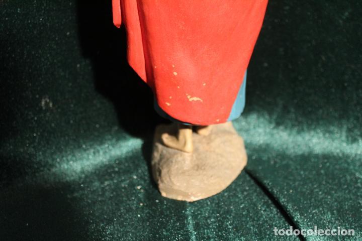 Antigüedades: ESCULTURA SANTO EN BARRO TARRACOTA - Foto 9 - 142670894