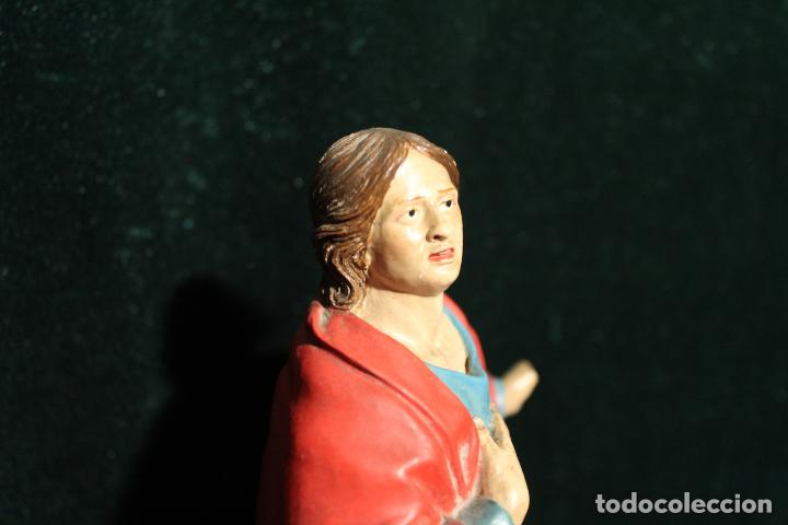 Antigüedades: ESCULTURA SANTO EN BARRO TARRACOTA - Foto 13 - 142670894