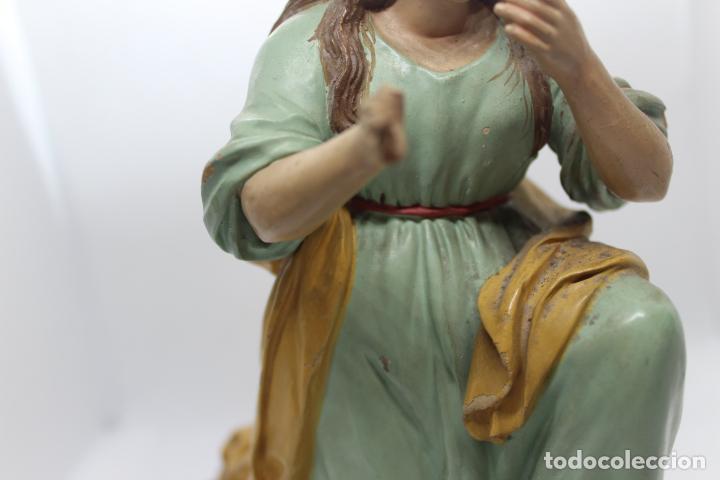 Antigüedades: ESCULTURA SANTO EN BARRO TARRACOTA - Foto 5 - 142671054