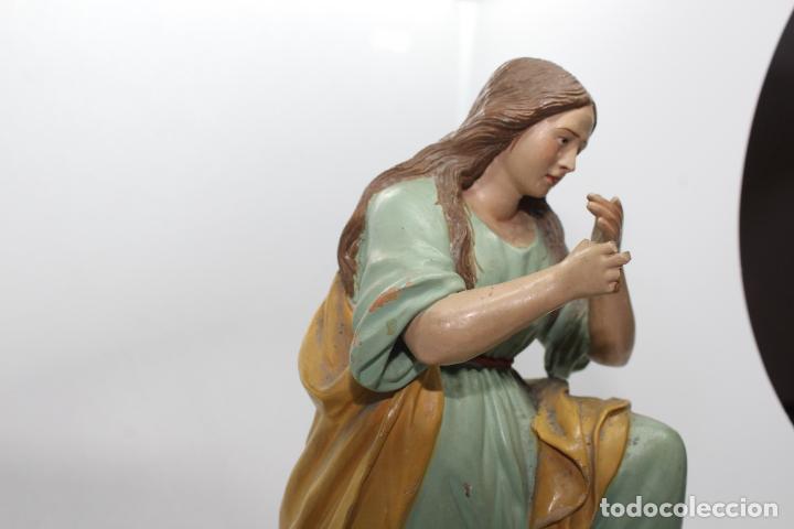 Antigüedades: ESCULTURA SANTO EN BARRO TARRACOTA - Foto 18 - 142671054