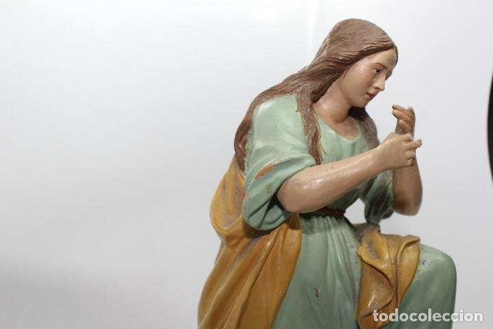 Antigüedades: ESCULTURA SANTO EN BARRO TARRACOTA - Foto 19 - 142671054