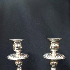 Antigüedades: PAREJA DE VELONES DE PLATA DE LEY. Lote 142679616