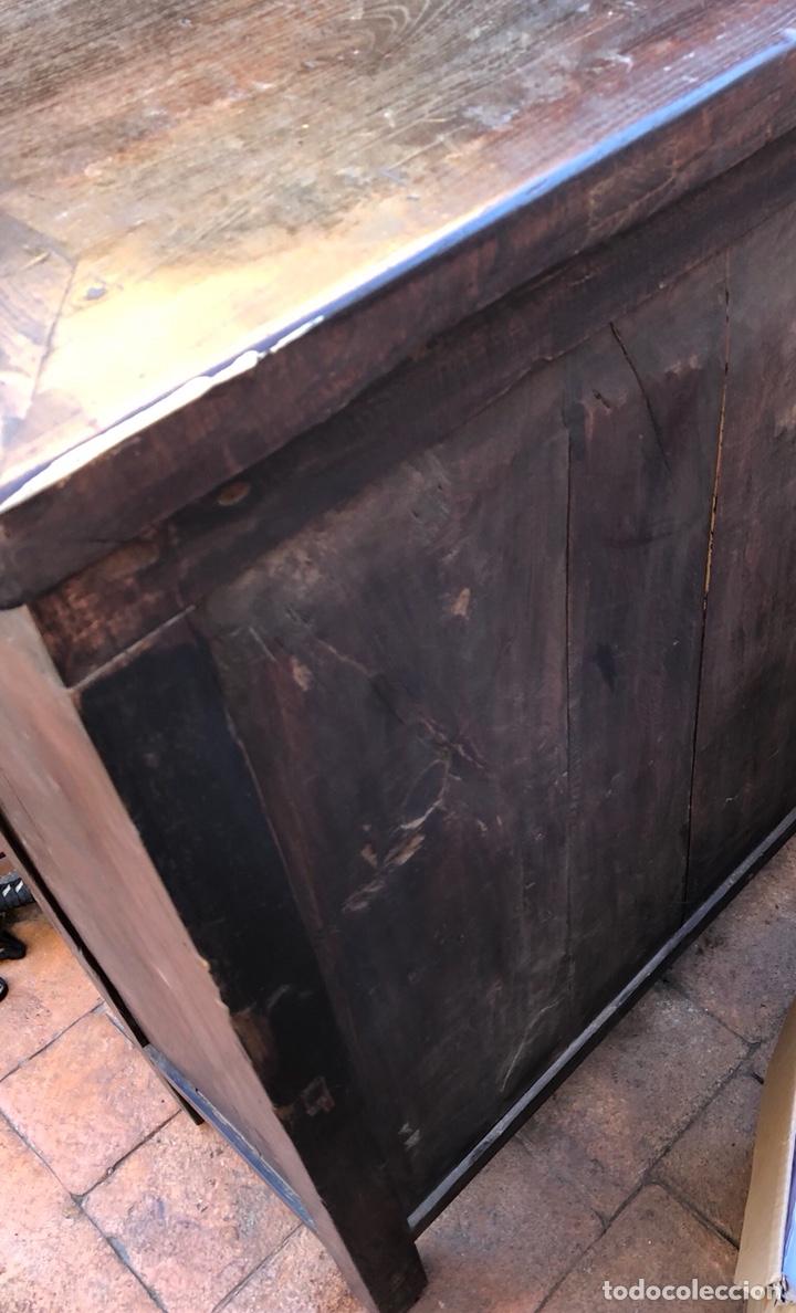 Antigüedades: Bonito mueble tibetano, íntegro en madera años 60-70 quizás anterior - Foto 8 - 142680940