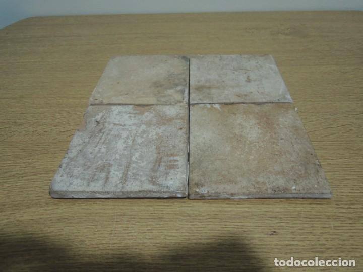 Antigüedades: CUATRO AZULEJOS ANTIGUOS DE CERÁMICA CATALANA - Foto 17 - 142682438