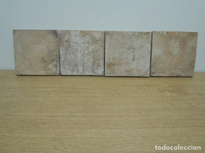 Antigüedades: CUATRO AZULEJOS ANTIGUOS DE CERÁMICA CATALANA - Foto 18 - 142682438