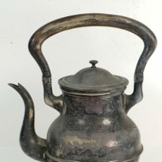 Antigüedades: GRAN TETERA DE METAL PLATEADO. INGLATERRA. SIGLO XIX-XX. . Lote 142682614