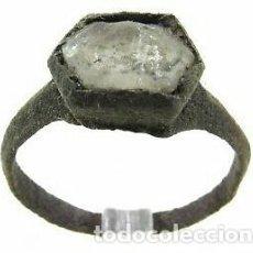 Antigüedades: ANILLO ROMANO CON PIEDRA ENGARZADAS AUTÉNTICO 100%!!100DC!3,3 GRAMOS Y 22 MILÍMETROS.MIRAD Y LEED!! . Lote 143245446