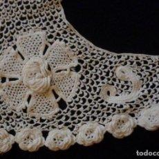 Antigüedades: ANTIGUA CAPELINA DE ENCAJE DE GUIPUR DE IRLANDA S.XIX. Lote 142691318