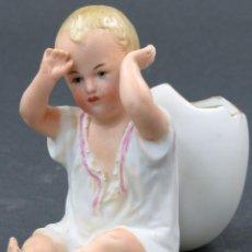 Antigüedades - Bebe porcelana biscuit aleman palillero estilo Gebruder Heubach principios siglo XX - 142695570