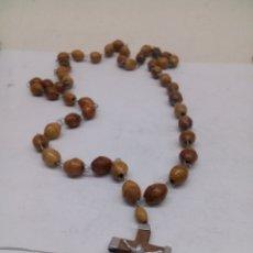 Antigüedades: ROSARIO DE MADERA JERUSALÉM. Lote 142699066