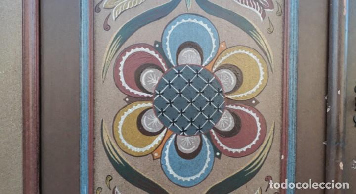 Antigüedades: Armario antiguo policromado estilo oriental India. Armario antiguo barroco pintado motivos florales. - Foto 8 - 142731978