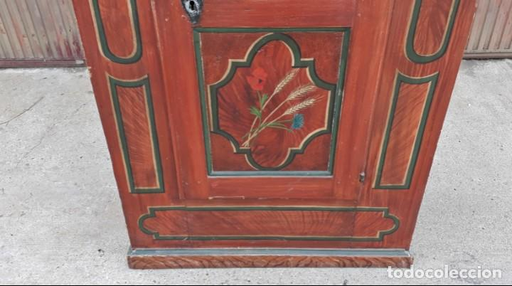 Antigüedades: Armario antiguo policromado estilo oriental India. Armario barroco pintado, armario siglo XVIII. - Foto 7 - 142732298