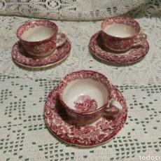 Antigüedades: TAZAS DE CAFE PICKMAN ROSA. Lote 142733884