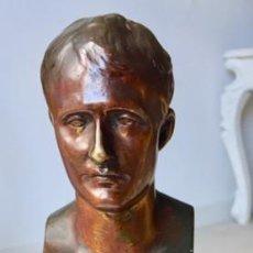 Antigüedades: NAPOLEON I BRONCE-FIRMADO: F.LAFOWT C.1.840 BASE MARMOL.. Lote 142738742