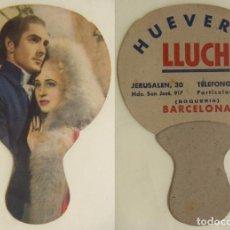 Antigüedades: VIEJO PAY PAY CON PUBLICIDAD HUEVERIA LLUCH BARCELONA RARISIMO. Lote 142760334