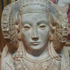 Antigüedades: BUSTO DE LA DAMA DE ELCHE EN PIEDRA. Lote 142788230
