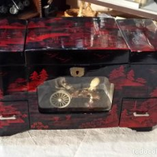 Antigüedades: ANTIGUO MUEBLE JOYERO MUSICAL. Lote 142808530