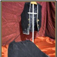 Antigüedades: ANTIGUO TRAJE REGIONAL ARAGONES SARAGUELL O FALLERO NIÑO . TRES PIEZAS CHALECO, PANTALÓN Y ALFORJAS.. Lote 142829194