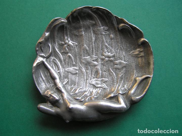 Antiquitäten: Espectacular despojador de bronce modernista.Puro estilo ART-NOUVEAU.Erótico. 1900. Peltre. - Foto 11 - 140771690