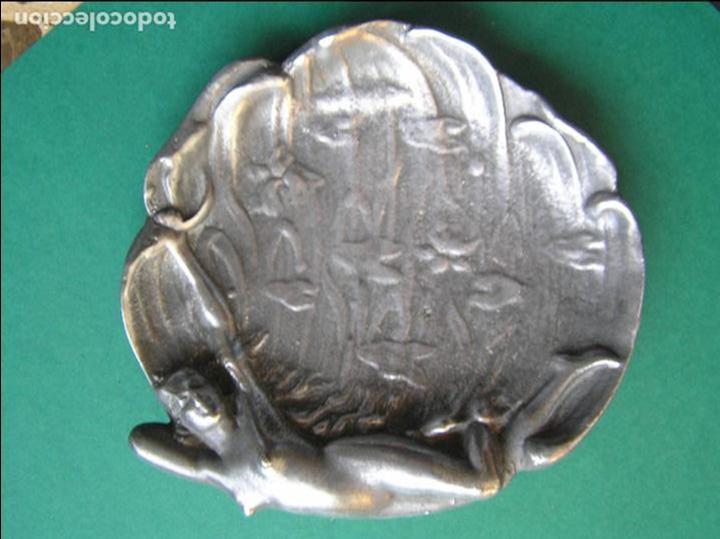 Antiquitäten: Espectacular despojador de bronce modernista.Puro estilo ART-NOUVEAU.Erótico. 1900. Peltre. - Foto 12 - 140771690