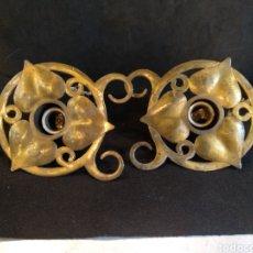 Antigüedades: LOTE DE 2 LAMPARAS MODERNISTAS, LAMPARAS DE TECHO. Lote 140873388