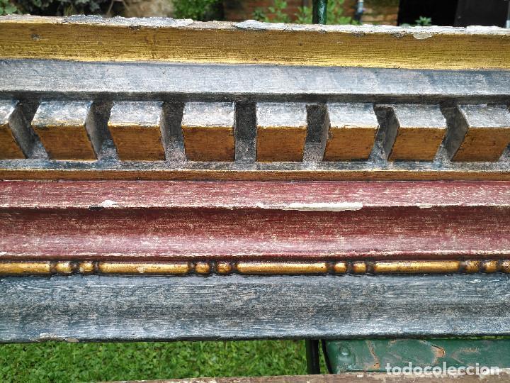 Antigüedades: Cornisas cornucopias policromadas - Foto 2 - 142889414