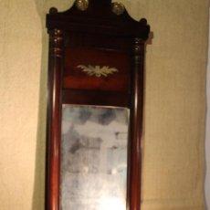 Antigüedades: ESPEJO DE MADERA DORADO. Lote 142895814