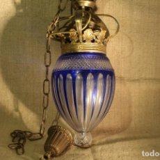 Antiquitäten - FAROL DE BRONCE Y CRISTAL - 142897518