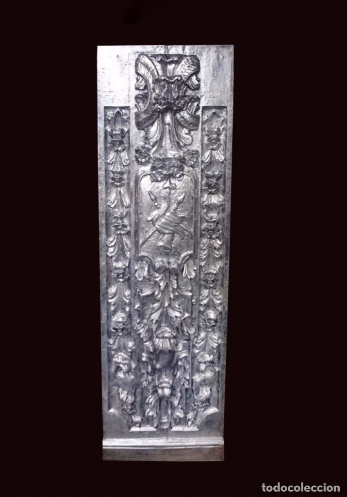 ANTIGUA TABLA PLATA DE RESINA ANTIGUA , SIMILAR A UN RETABLO , HOTEL MELIÁ ZARAGOZA (Antigüedades - Varios)