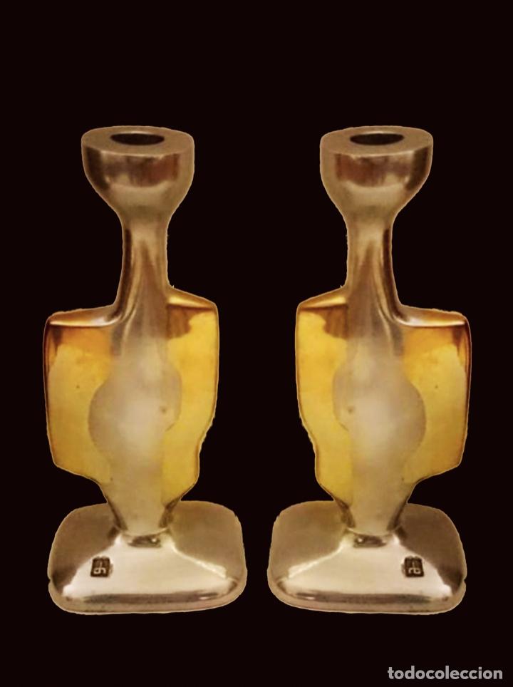 ELEGANTÍSIMOS CANDELABROS DE DAVID MARSHALL, PRECIOSOS, (Antigüedades - Iluminación - Candelabros Antiguos)