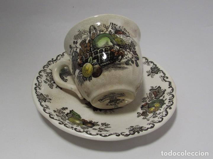 TAZA Y PLATO MASON´S ENGLAND - MUY ANTIGUO PRECIOSA - TACITA CAFE (Antigüedades - Porcelanas y Cerámicas - Inglesa, Bristol y Otros)