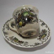 Antigüedades: TAZA Y PLATO MASON´S ENGLAND - MUY ANTIGUO PRECIOSA - TACITA CAFE . Lote 142911562