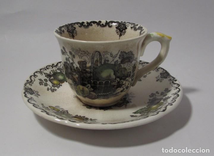 Antigüedades: TAZA Y PLATO MASON´S ENGLAND - MUY ANTIGUO PRECIOSA - TACITA CAFE - Foto 2 - 142911562