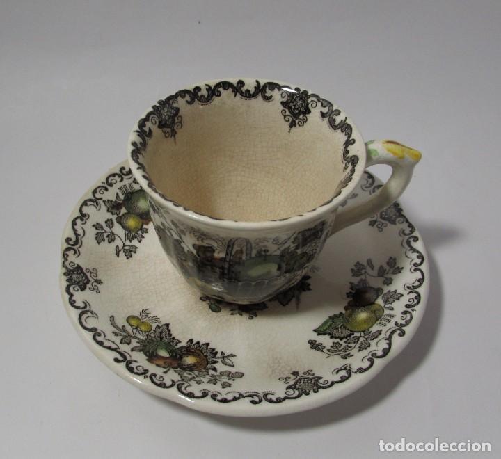 Antigüedades: TAZA Y PLATO MASON´S ENGLAND - MUY ANTIGUO PRECIOSA - TACITA CAFE - Foto 3 - 142911562