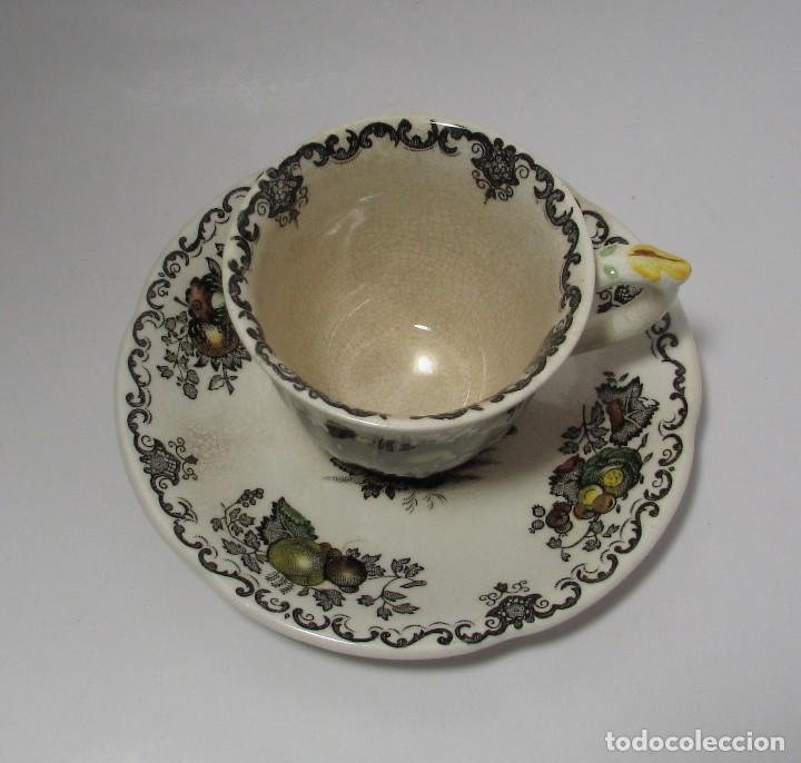 Antigüedades: TAZA Y PLATO MASON´S ENGLAND - MUY ANTIGUO PRECIOSA - TACITA CAFE - Foto 8 - 142911562