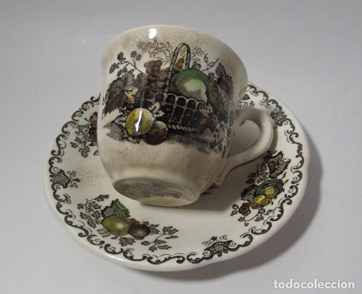 Antigüedades: TAZA Y PLATO MASON´S ENGLAND - MUY ANTIGUO PRECIOSA - TACITA CAFE - Foto 9 - 142911562
