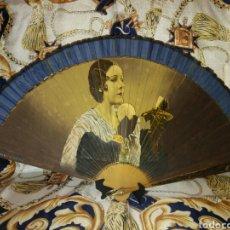 Antigüedades: ABANICO VINTAGE PINTADO A MANO Y FIRMADO. Lote 141462518