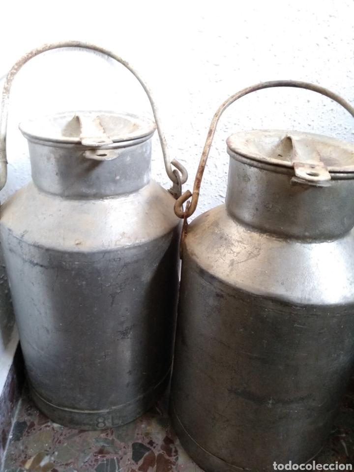 Antigüedades: Pareja de lecheras de 8 litros - Foto 3 - 142949932