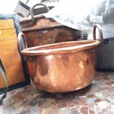 Antigüedades: CALDERO DE COBRE SIGLO XIX. Lote 142952128