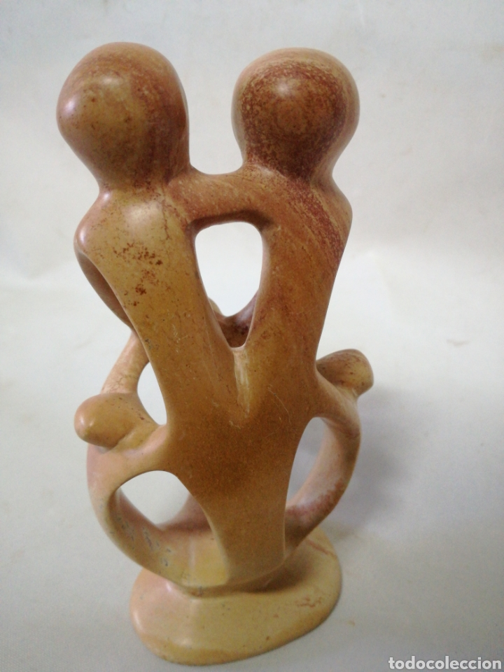 Antigüedades: Escultura de marmol, alabastro representa a la familia. - Foto 2 - 142962284