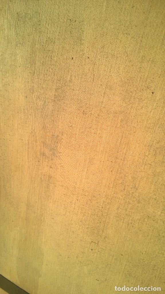 Antigüedades: Pintura Antigüa oleo sobre lienzo San Antonio de Padua.Pieza única - Foto 7 - 142972534