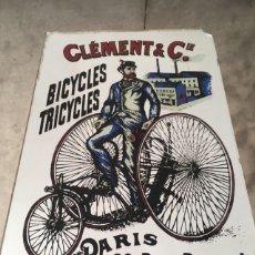 Antigüedades: ESPEJO PUBLICITARIO CLÉMENT & CIE - PARIS. Lote 142981892