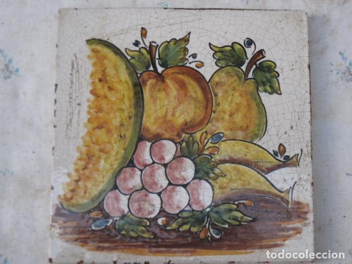 Antigüedades: AZULEJO GRANDE DE COCINA EN CERAMICA PINTADA Y VIDRIADA DE TALAVERA. - Foto 2 - 142990830
