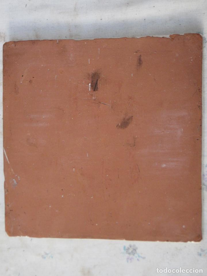 Antigüedades: AZULEJO GRANDE DE COCINA EN CERAMICA PINTADA Y VIDRIADA DE TALAVERA. - Foto 3 - 142990830