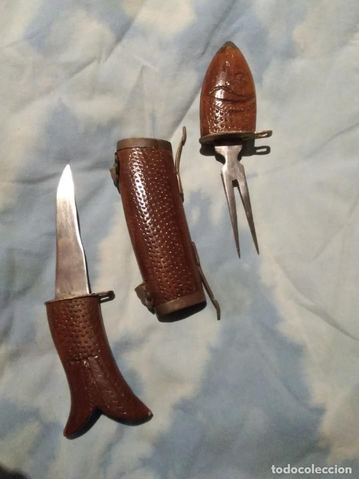 Antigüedades: Pez con cuchillo y tenedor - Foto 2 - 142994854
