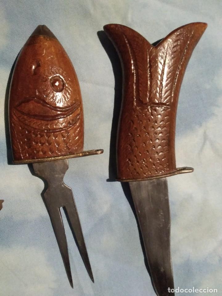 Antigüedades: Pez con cuchillo y tenedor - Foto 3 - 142994854