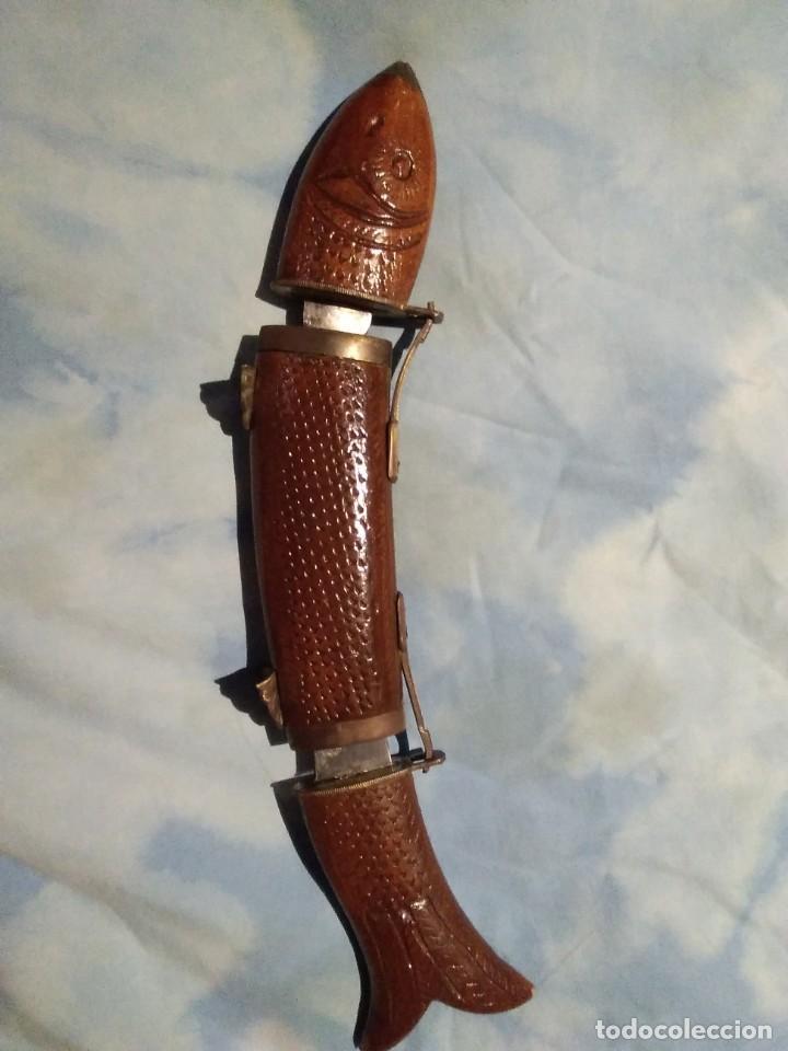 Antigüedades: Pez con cuchillo y tenedor - Foto 5 - 142994854