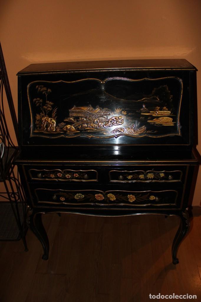 ESCRITORIO CHINO (Antigüedades - Muebles Antiguos - Escritorios Antiguos)