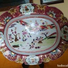 Antigüedades: IMPONENTE. MASON´S. IRONSTONE CHINA PATENTE MURO DE COLORES. 53 X 41 CM. PESO 3.070 GRAMOS LLEVO. Lote 143008850