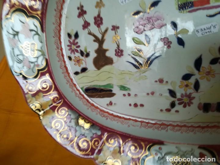 Antigüedades: IMPONENTE MASON´S .MASONS IRONSTONE CHINA PATENTE MURO DE COLORES. 53 X 41 CM. PESO 3.070 GR. C.1820 - Foto 6 - 143008850